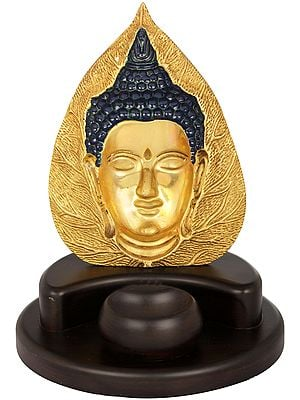 Pipal Leaf Buddha Candle Holder - Tibetan Buddhist