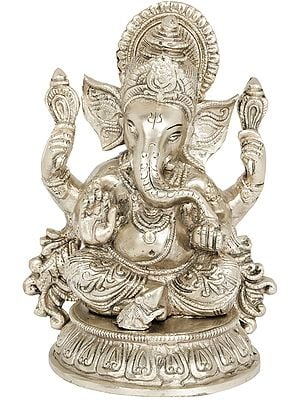 Shri Ganesha Seated on Lotus Chowki