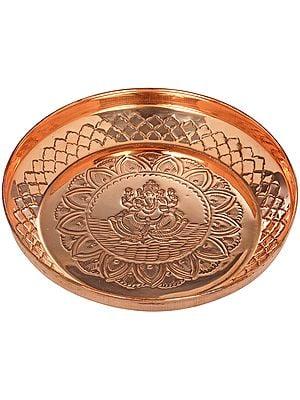 Ganesha Copper Puja Thali