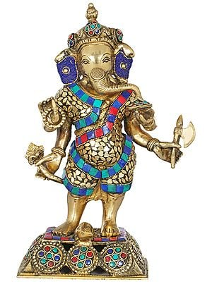Standing Inlay Ganesha