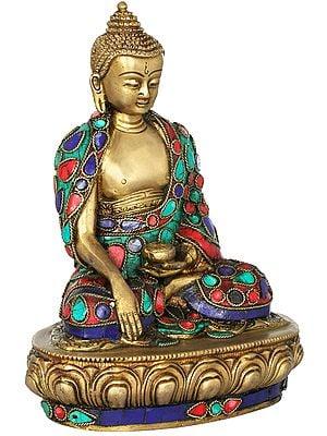 Lord Buddha in Bhumisparsha Mudra (Inlay Statue)