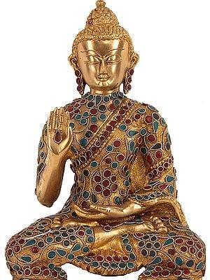 Lord Buddha in Vitarka Mudra with Inlay