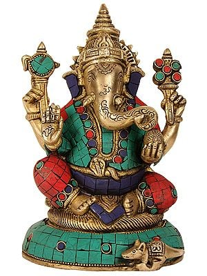 Blessing Ganesha with Inlay