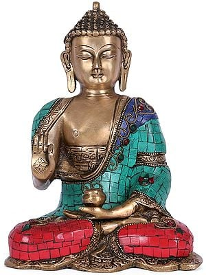 Abhaya Buddha with Inlay
