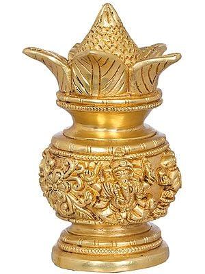 Coconut Kalash For Ganesha Worship