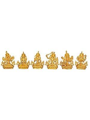 Set of Six Tibetan Buddhist Bodhisattva Deities