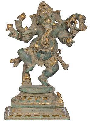 Six Armed Joyous Dancing Ganesha