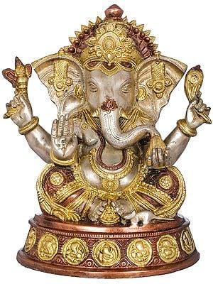 Ashirwad Ganesha Seated on Ashtaganesha Chowki