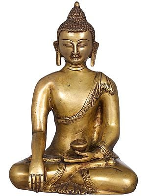 Tibetan Buddhist Deity Buddha in the Bhumi-Sparsha Mudra