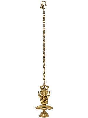 Ganesha Hanging Lamp