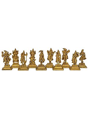 Dashavatara (Ten Incarnations of Lord Vishnu) Flat Statues
