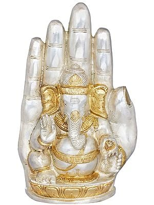 Lord Ganesha in Blessing Hand