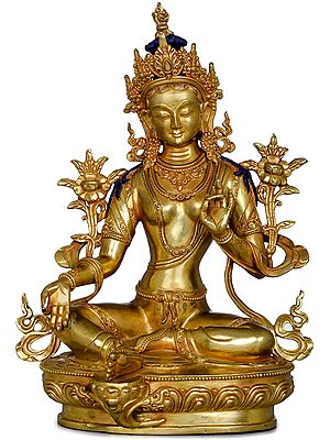 Green Tara -Tibetan Buddhist Goddess (Made in Nepal)