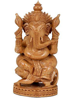 Ganesha Seated on His Rat