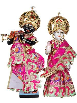 Radha Krishna with Shringara