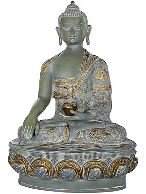 Tibetan Buddhist Lord Buddha Seated on Lotus