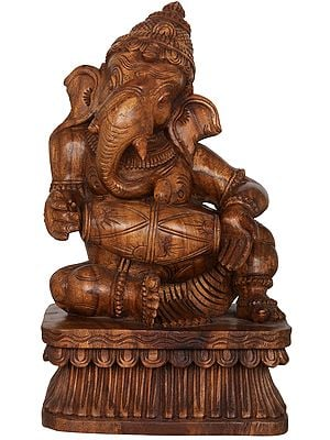 Ganesha Playing Dholak