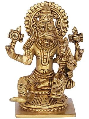 Narasimha with Goddess Lakshmi