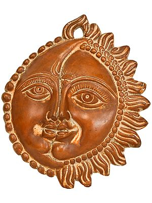Wall-Hanging: Auspicious Motif of Sun and Moon