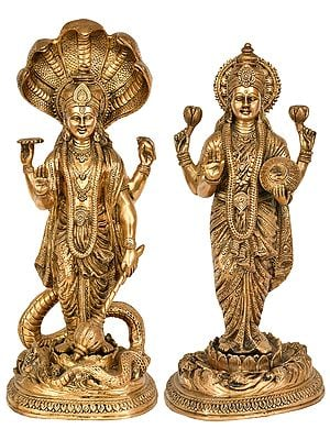 Lord Vishnu with Goddess Lakshmi
