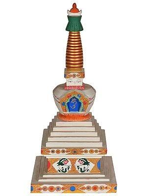 Made in Nepal Tibetan Buddhist Chorten (Stupa)