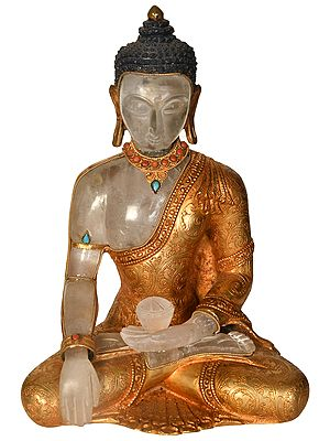 Lord Buddha Carved in Crystal (Made in Nepal)