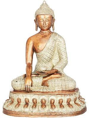 Tibetan Buddhist Deity Buddha in Earth Witness Gesture