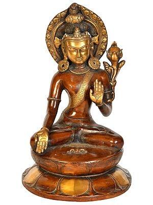 Crown Buddha in Varada Mudra with Dorje (Tibetan Buddhist)
