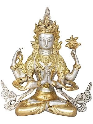 Tibetan Buddhist Deity Shadakshari Lokeshvara - Chenrezig