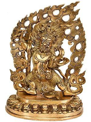 Vajrapani with Fire Aureole (Tibetan Buddhist Deity)