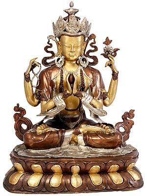 Large Size Tibetan Buddhist Deity Chenrezig