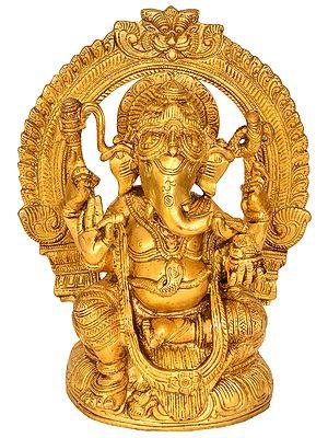Ganesha Seated on Lotus
