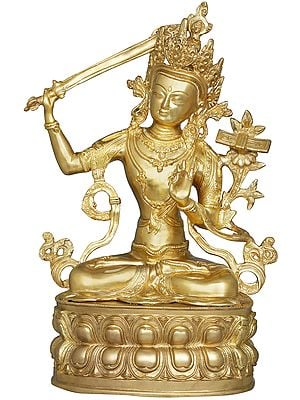 Manjushri - Tibetan Buddhist Deity Upholder of the Double-Edged Sword