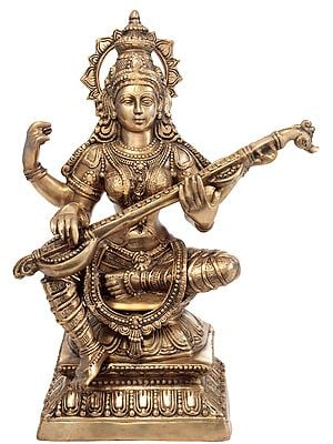 Large Size Saraswati, The Goddess of Three-Fold Knowledge