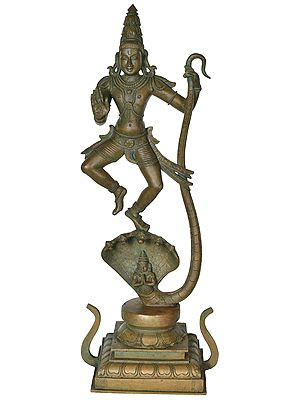 Lord Krishna with Serpent Kaliya