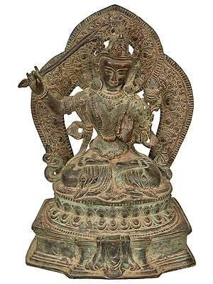 Made in Nepal Tibetan Budhdist Deity Manjushri