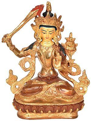 Made in Nepal Manjushri - Tibetan Buddhist Deity