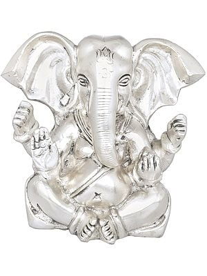Seated Lord Ganesha with Large Ears