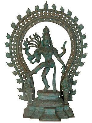 Dancing Ardhanarishvara with Saint Panini and Patanjali
