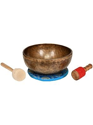 Superfine Tibetan Buddhist Vishva-Vajra Singing Bowl