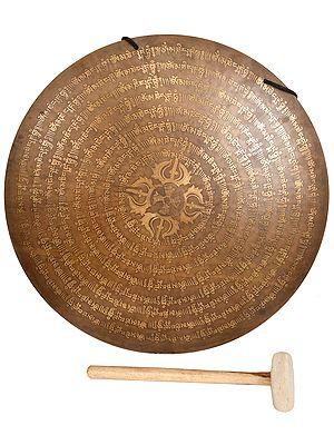 Tibetan Buddhist Monastery Gong with Mallet