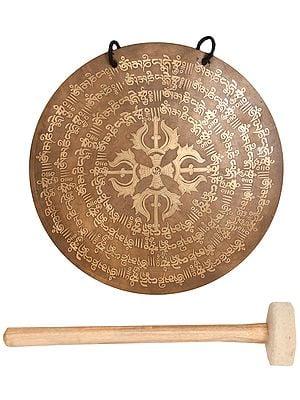 Tibetan Buddhist Vishva-Vajra Monastery Gong