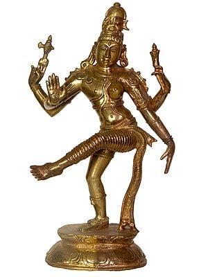 Dancing Ardhanarishvara: Half-Copper, Half-Bronze