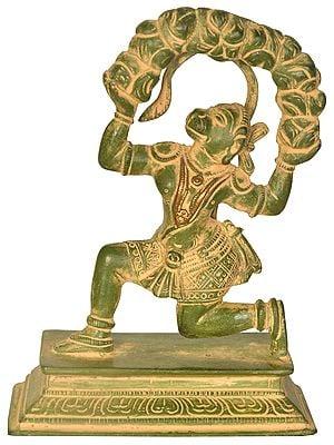 Hanuman Lifting the Sanjeevani Mountain