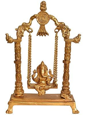 Lord Ganesha on an Elephant Swing