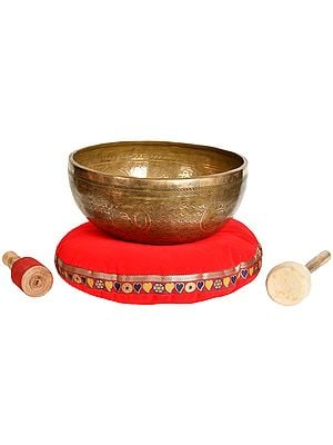 Superfine Hand Hammered Large Size Singing Bowl - Tibetan Buddhist