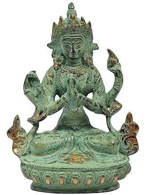 Tibetan Buddhist Deity-Chenrezig (Shadakshari Lokeshvara)