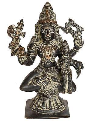 Shiva as Pashupatinath with Goddess Parvati on His Lap
