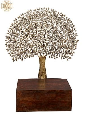 Wooden Seat with Lifelike Tree For Your Favourite Deity