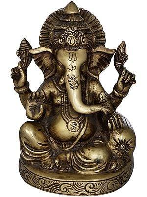 Seated Ganesha with Cushion